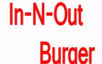 In-N-Out Burger Menu