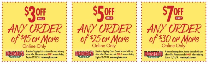 Romeos Coupons
