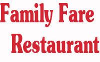 Family Fare Menu