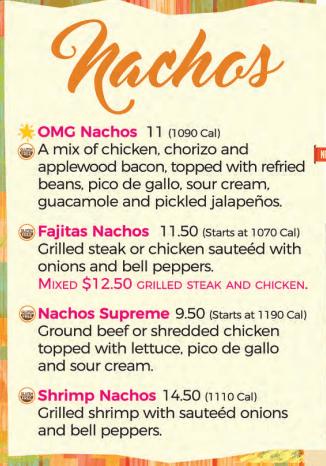 Nachos Menu